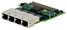 NAT-FMC-4GigE-PoE Quad GigE Network FMC module with PoE for